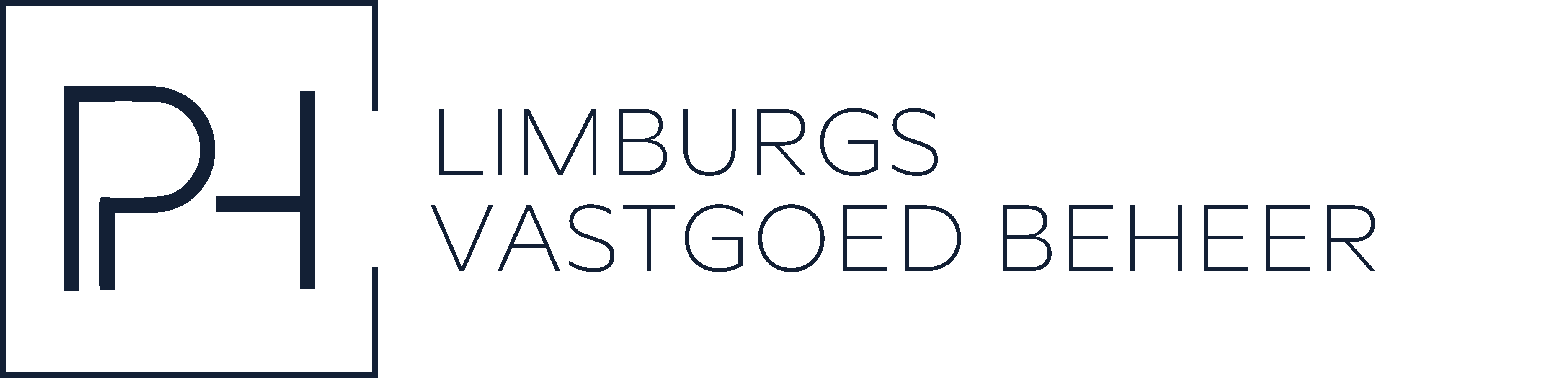 Logo PH. Limburgsvastgoedbeheer blauw